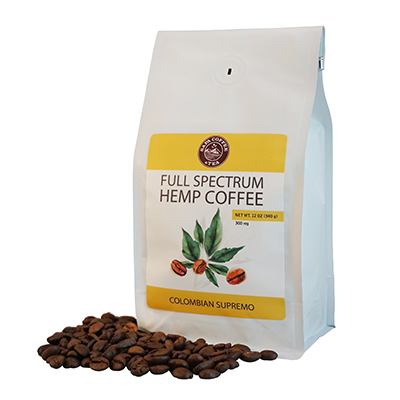 Full Spectrum Hemp Coffee - Colombian Supremo - white background 400x400